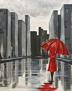 "Zoom Art Class: ""Red Umbrella""  Feb. 26th (6-9pm)"