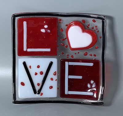 Fused Glass: Love Plate Kit