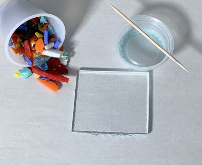 Fused Glass: 2x2 Suncatcher