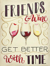 "Zoom Art Class: ""Friends & Wine""  Feb. 12th (6-9pm)"