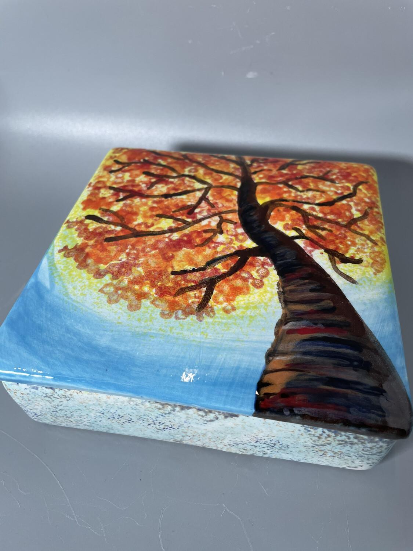 """Twisted Oak"" on a Tile Box -  Tues. Jan 19th (3-4:30pm)"