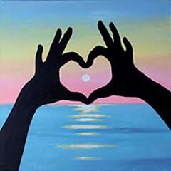 "Zoom Art Class: ""Sunset Love"" Feb. 27th (4-6pm)"
