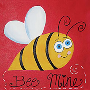 "Zoom Art Class: ""Bee Mine"" Feb 6th (4-6pm)"