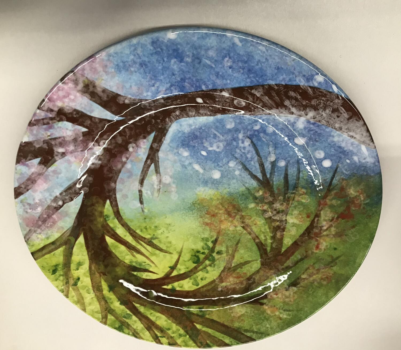 """Changing Seasons"" Rim Dinner Plate-  Tues. Jan 26th (6:30-8pm)"