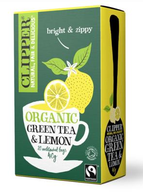 Organic Fairtrade Green with Lemon 20 bags