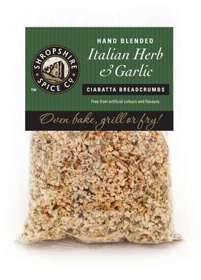 Italian Herbs & Garlic Ciabatta Breadcrumbs 100g
