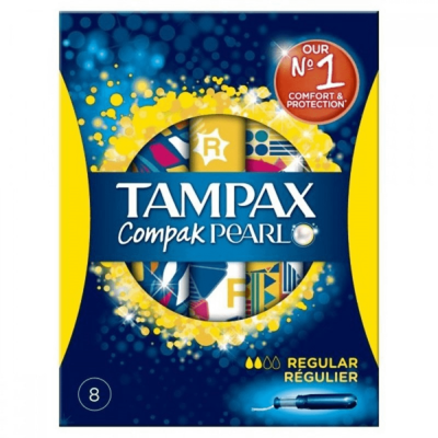 Tampax Compak Pearl Regular 8's