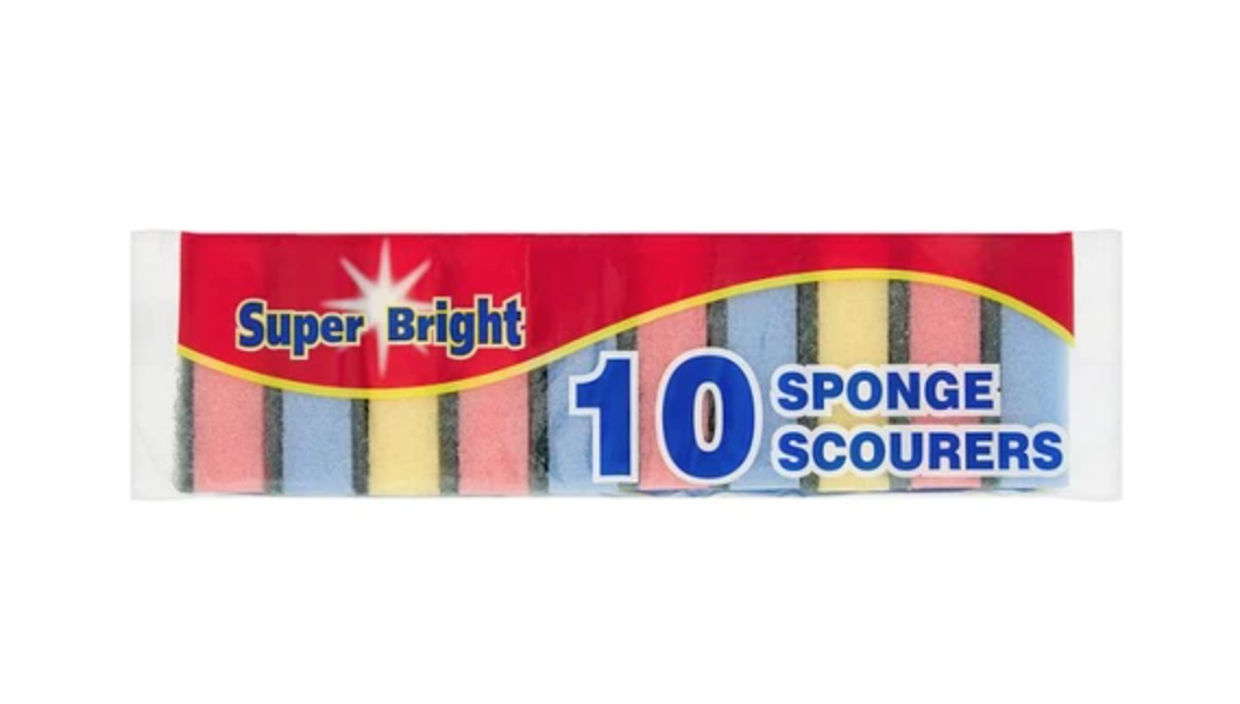Superbright Sponge Scourers 10's