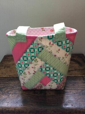 Handmade Large Tote Bag- Pink