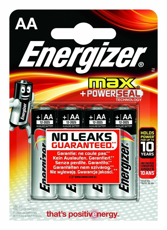 Energizer MAX AA Alkaline Batteries 4pk