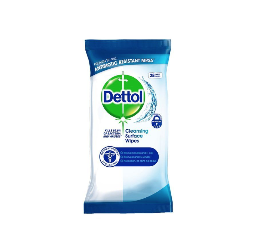 Dettol Anti-Bacterial Surface Wipes 28s