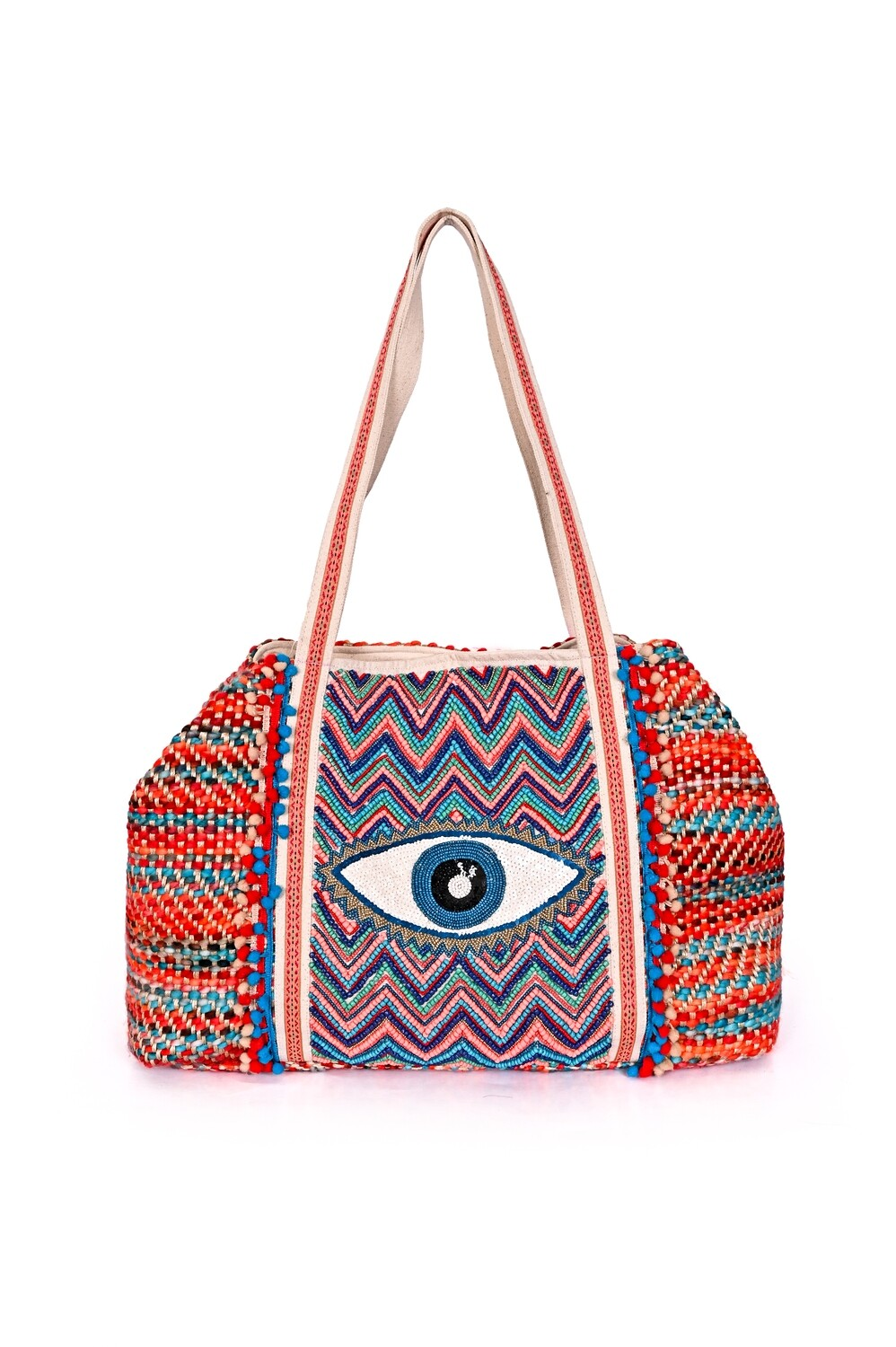 Boho Evil-Eye Tote Bag