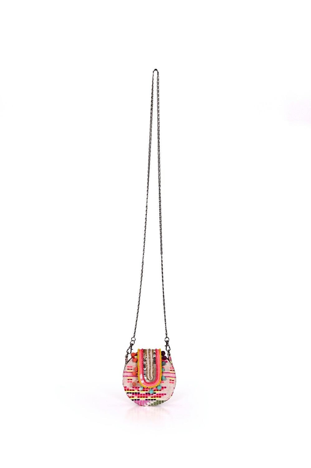Confetti Embellished Mini Bag with Chain