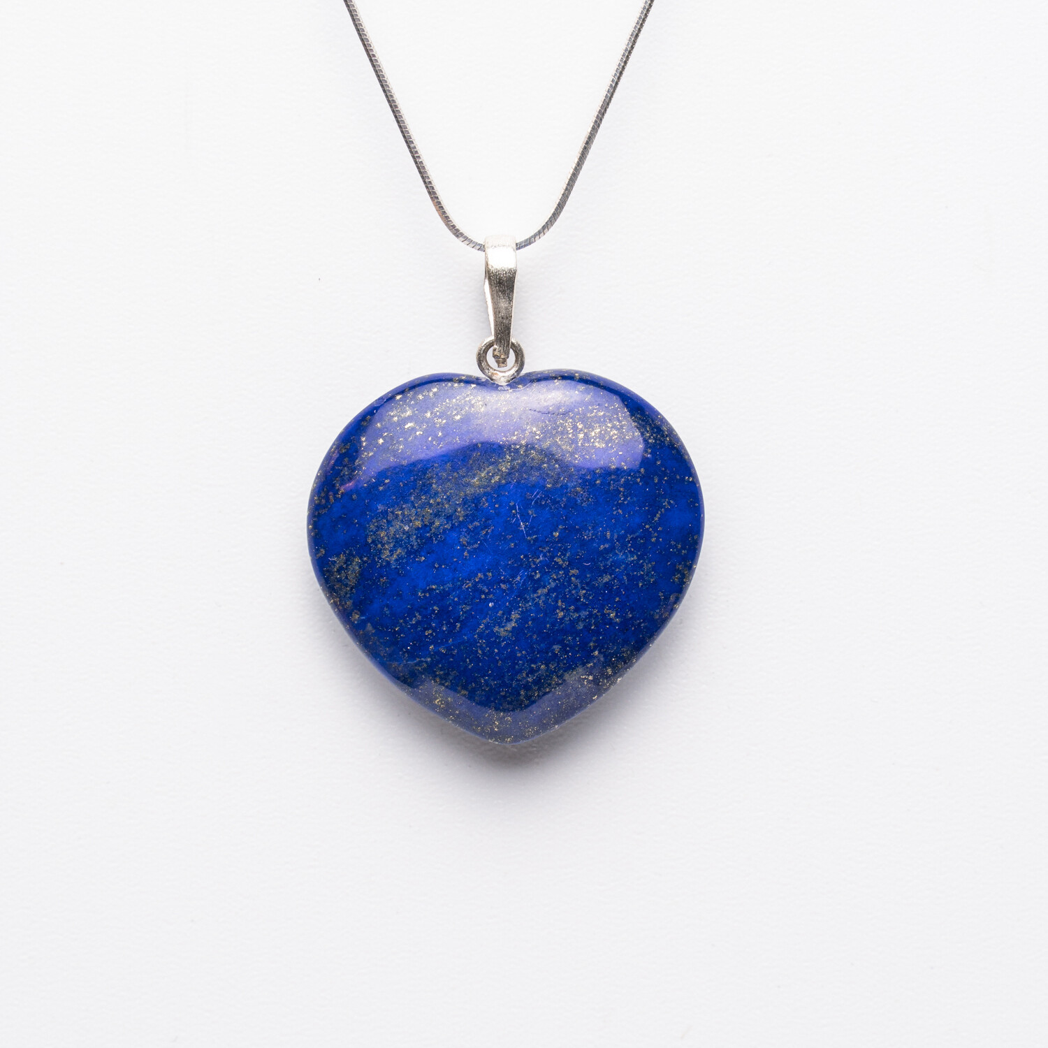 Genuine Lapis Lazuli Heart on Sterling Silver Chain
