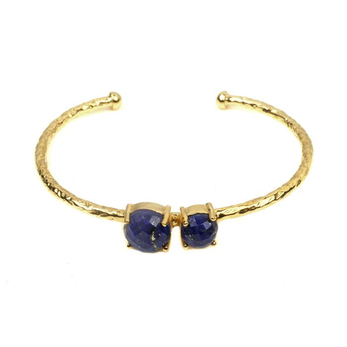 Zoe Lapis Lazuli Cuff Bracelet