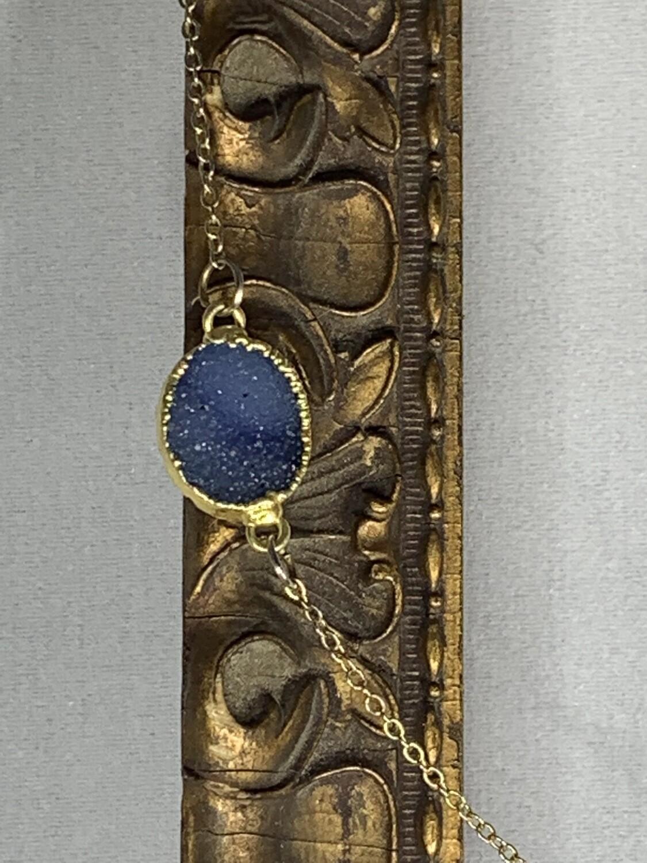 Light Blue Agate Druzy Necklace