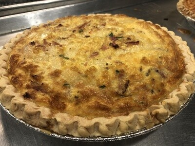Bacon & Caramelized Onion Quiche Full Size 9