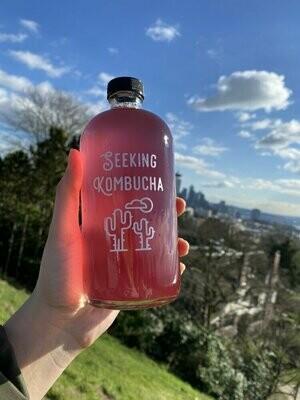 Purple Rain Kombucha 16 oz Refill from Seeking Kombucha