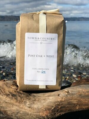 Post Oak + West Coffee from Town & Country Coffee Company