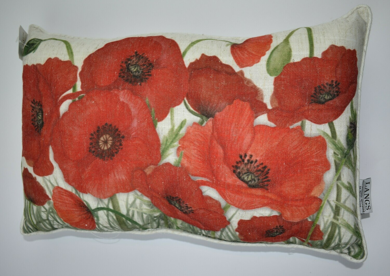 Rectangular Poppy Cushion