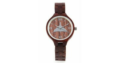 Wooden Watch - Vulcan with Wooden Strap (Ladies)