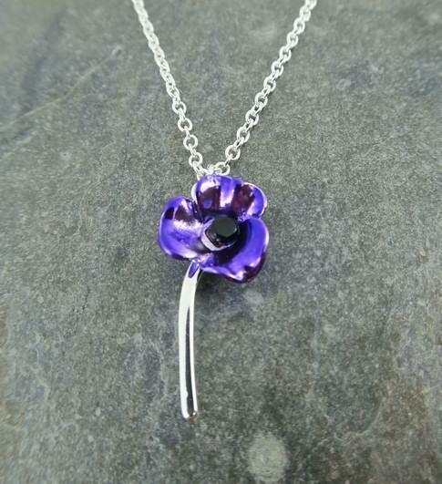 Purple Poppy Pendant