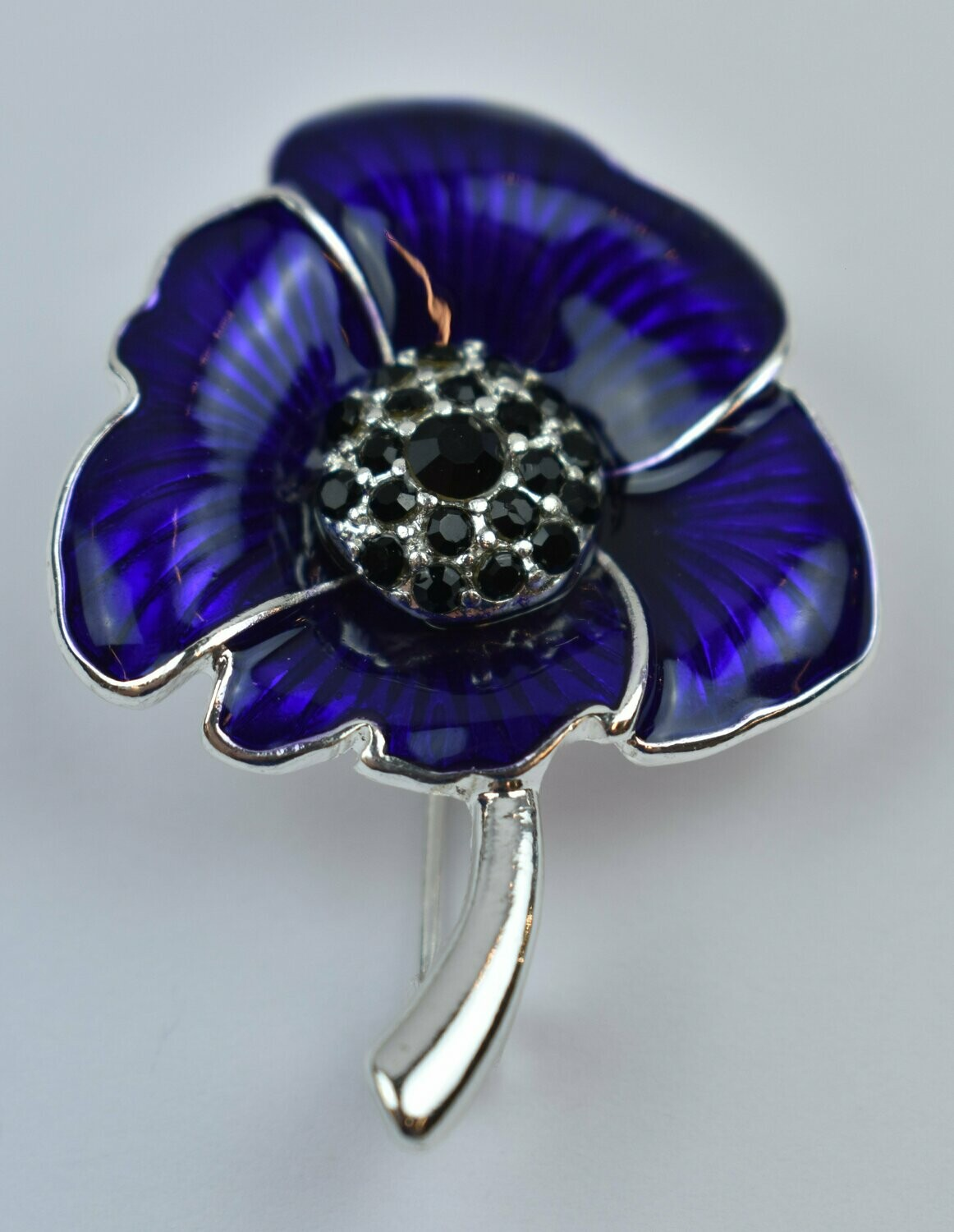 Poppy Brooch Purple
