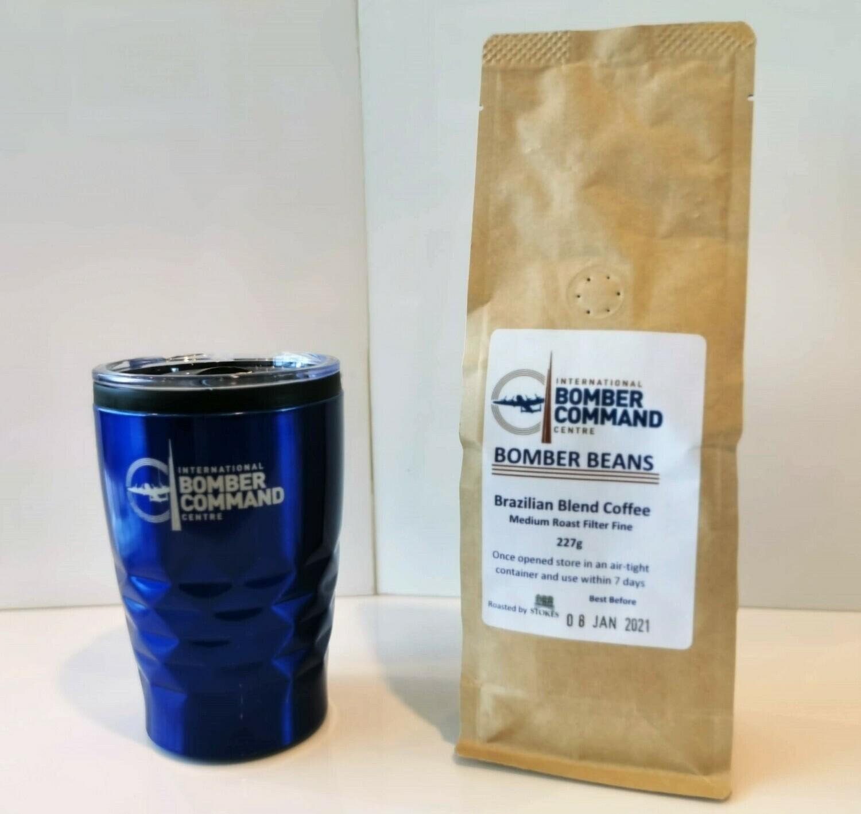 IBCC Travel Mug and Ground Coffee Gift Pack