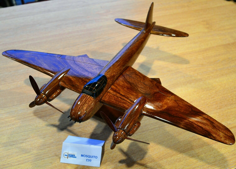 Wooden Aircraft Model - De Havilland Mosquito