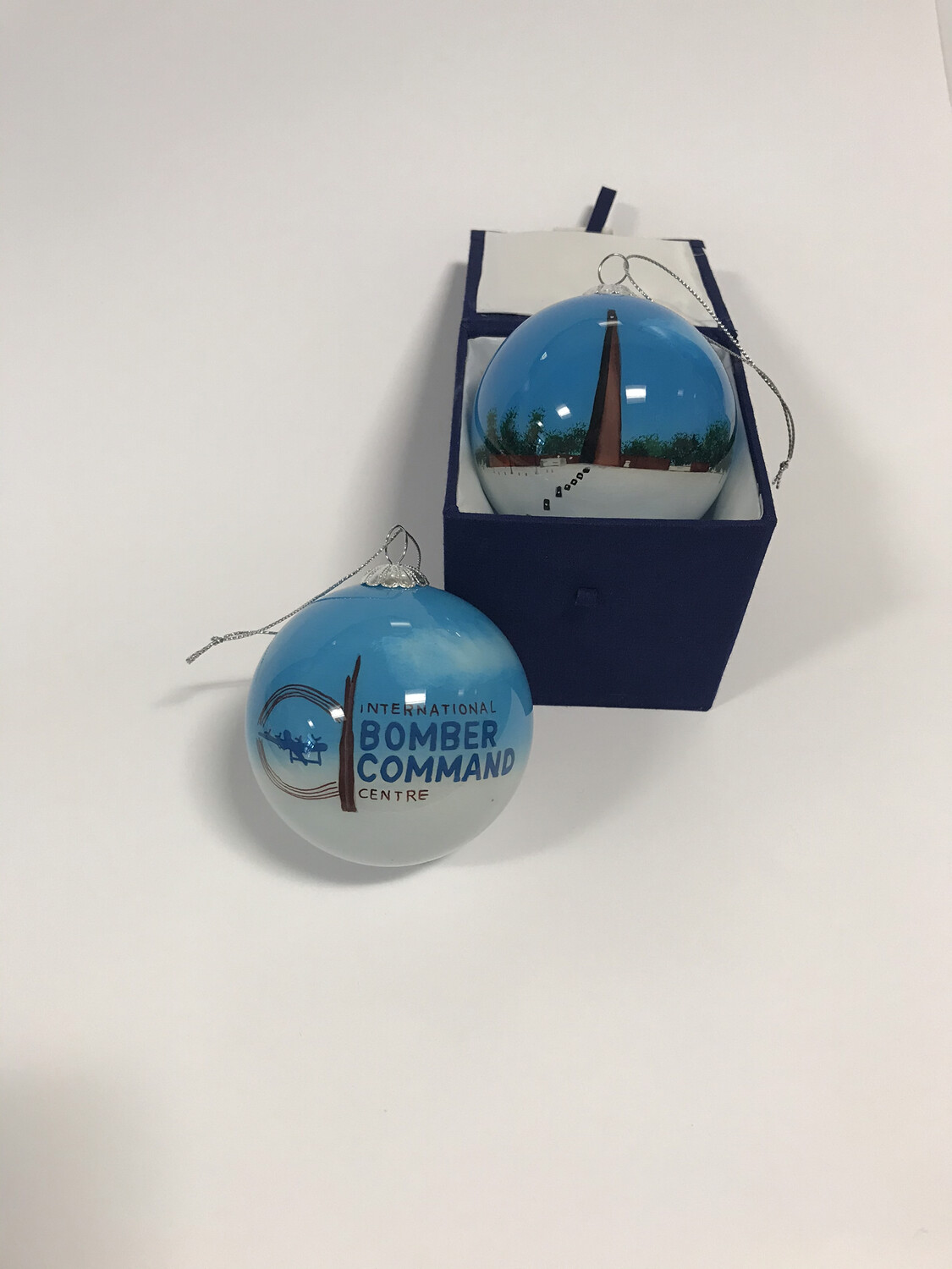 IBCC Spire Christmas Bauble Blue