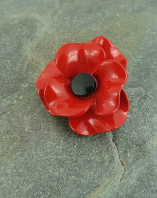 Red Poppy Brooch