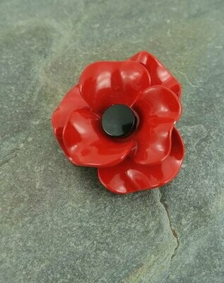 Poppy Brooch Red