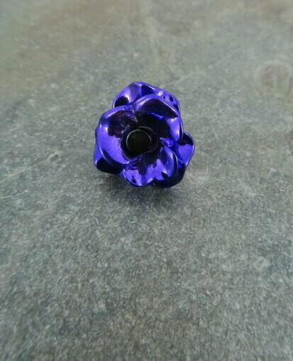 Purple Poppy Lapel Pin
