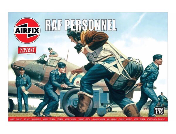 Airfix WWII RAF Personnel Figure Set 1/76 Scale