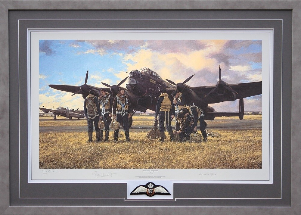 Mission Completed- Framed Veteran-signed Limited Edition print