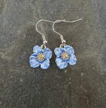Blue Poppy Earring