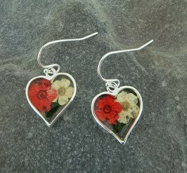 Heart Flower Earrings