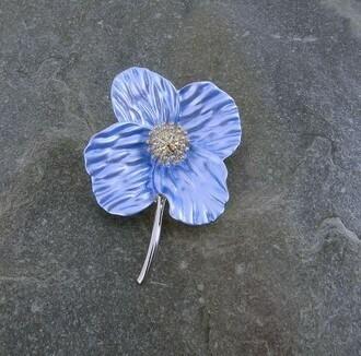 Blue Poppy Brooch