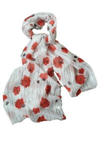 Wild Poppies Ladies Scarf