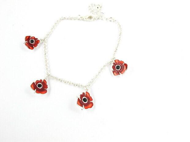 Red Poppy Bracelet
