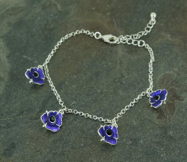 Purple Poppy Bracelet