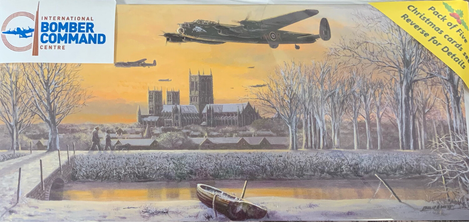 5 pack Bomber Command Christmas Cards **New  Designs Added**