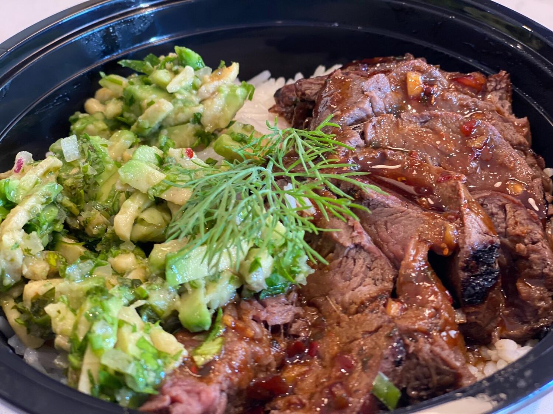 Meal-in-a-Bowl Teriyaki Steak