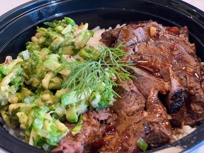 Meal-in-a-Bowl Teriyaki Steak