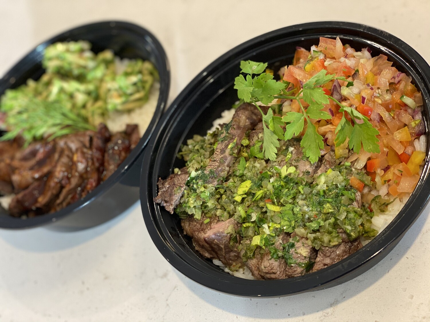 *COMBO* Budweiser Lager AND Meal-in-a-Bowl Chimichurri Steak