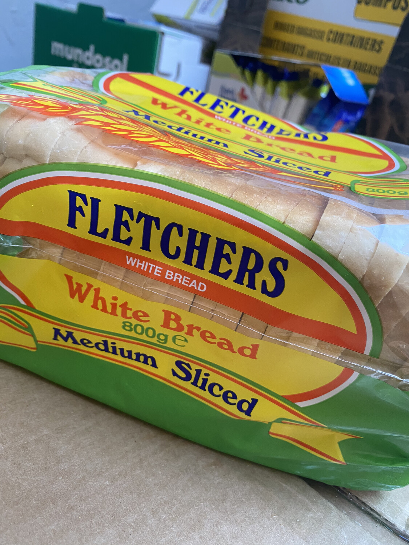 Fletchers White Medium Sliced Loaf( frozen)