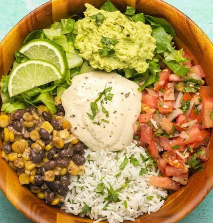 Meal-in-a-Bowl Vegan Burrito (Ve)