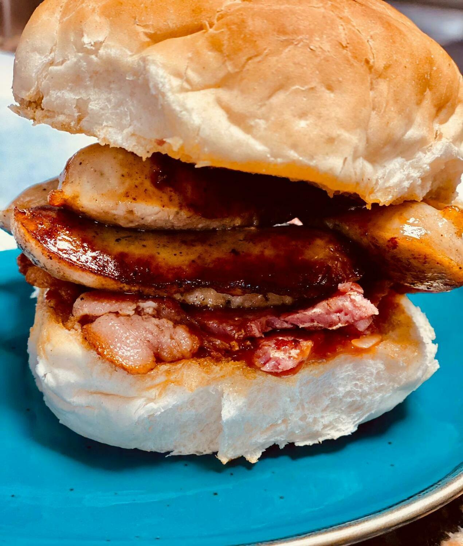 Ultimate Brekkie Roll (Bacon +3 extras)