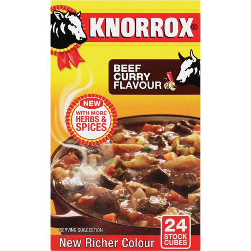 KNORROX BEEF CURRY SPICE/CHICKEN  24CUBES