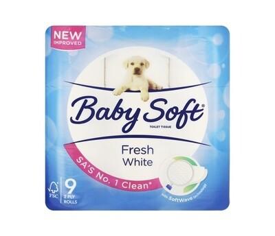 BABY SOFT 2PLT TOILET TISSUE (9 rolls)